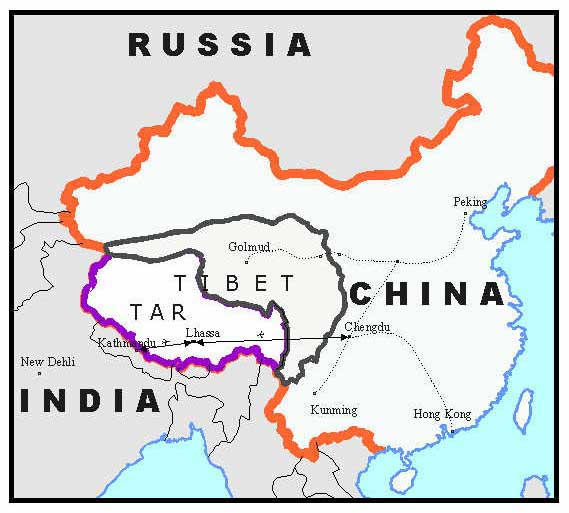 Carte Chine Et Tibet.Cartes Du Tibet